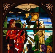 stained glass window at 